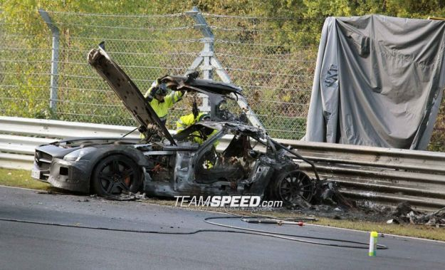 Mercedes SLS Amg Black Series, incidente