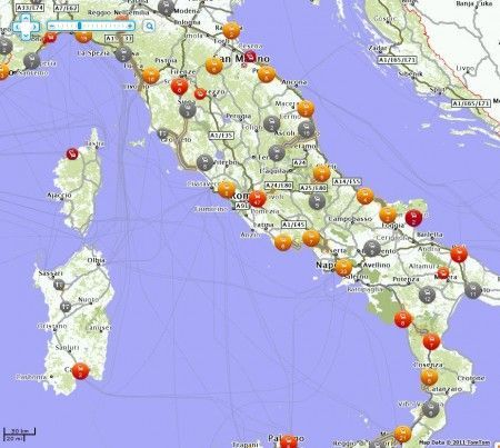 tomtom live traffic italy