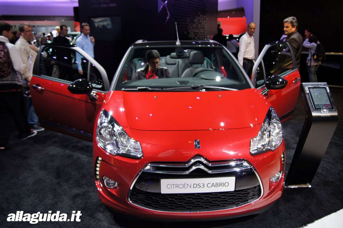 Citroen DS3 Cabrio, Salone di Parigi 2012