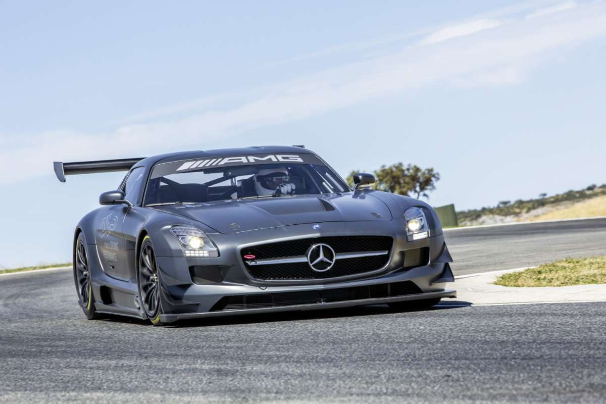 Mercedes SLS Amg Gt3 45th anniversary edition, frontale