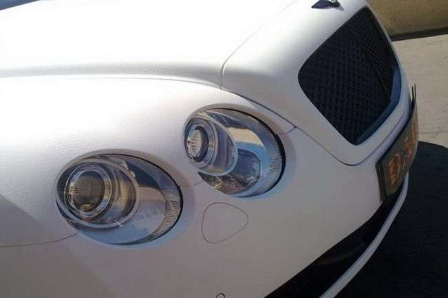 Bentley Continental GT SS in pelle di serpente particolare frontale