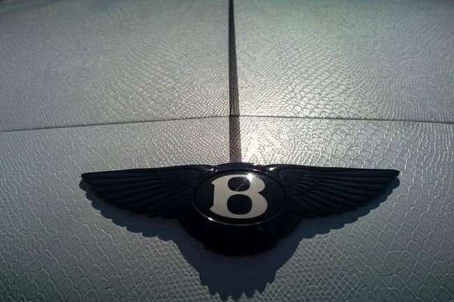 Bentley Continental GT SS in pelle di serpente particolare
