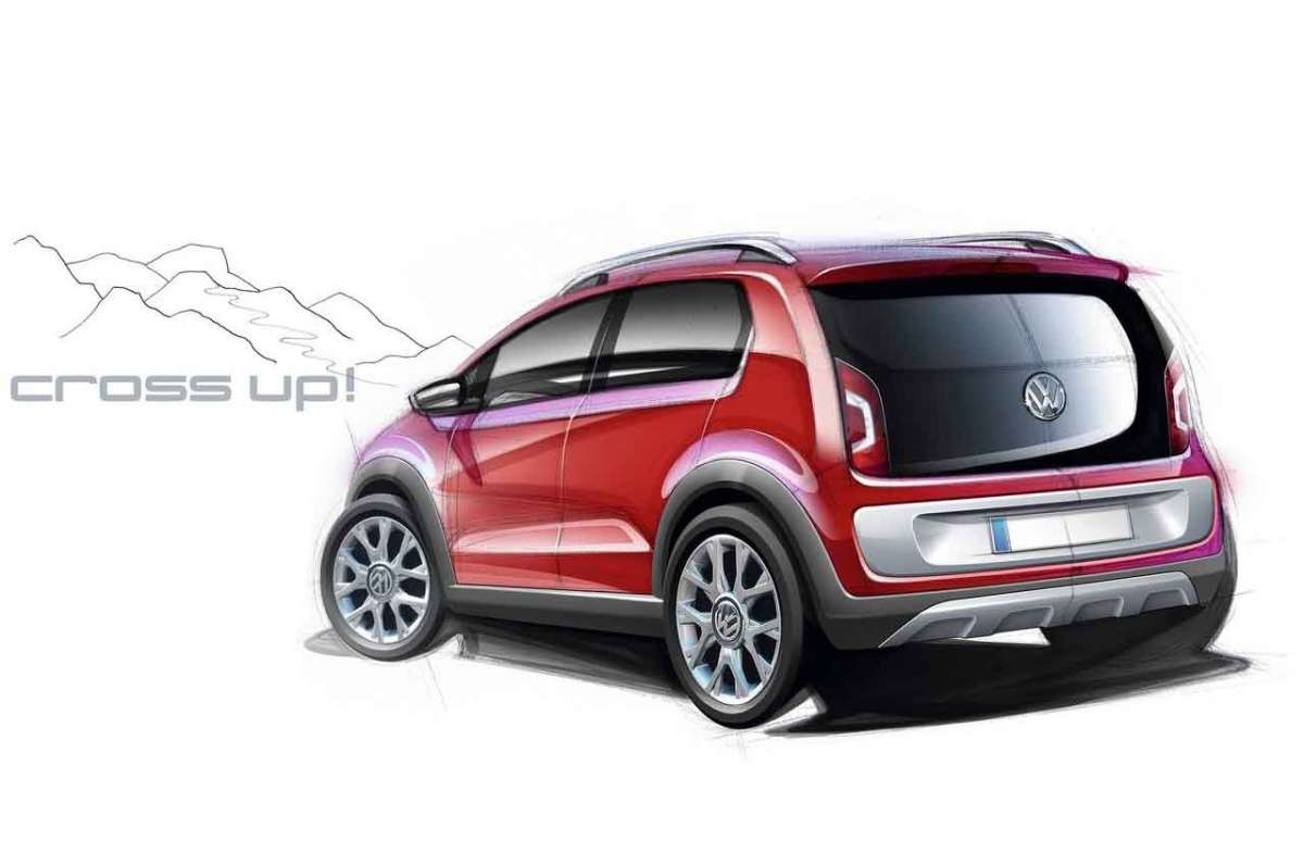 Volkswagen Cross-Up! bozza posteriore