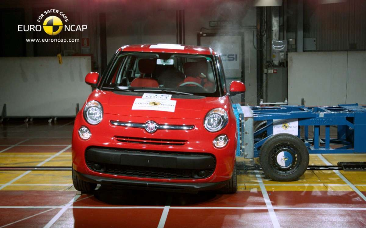Crash Test Euro NCAP Fiat 500L anteriore