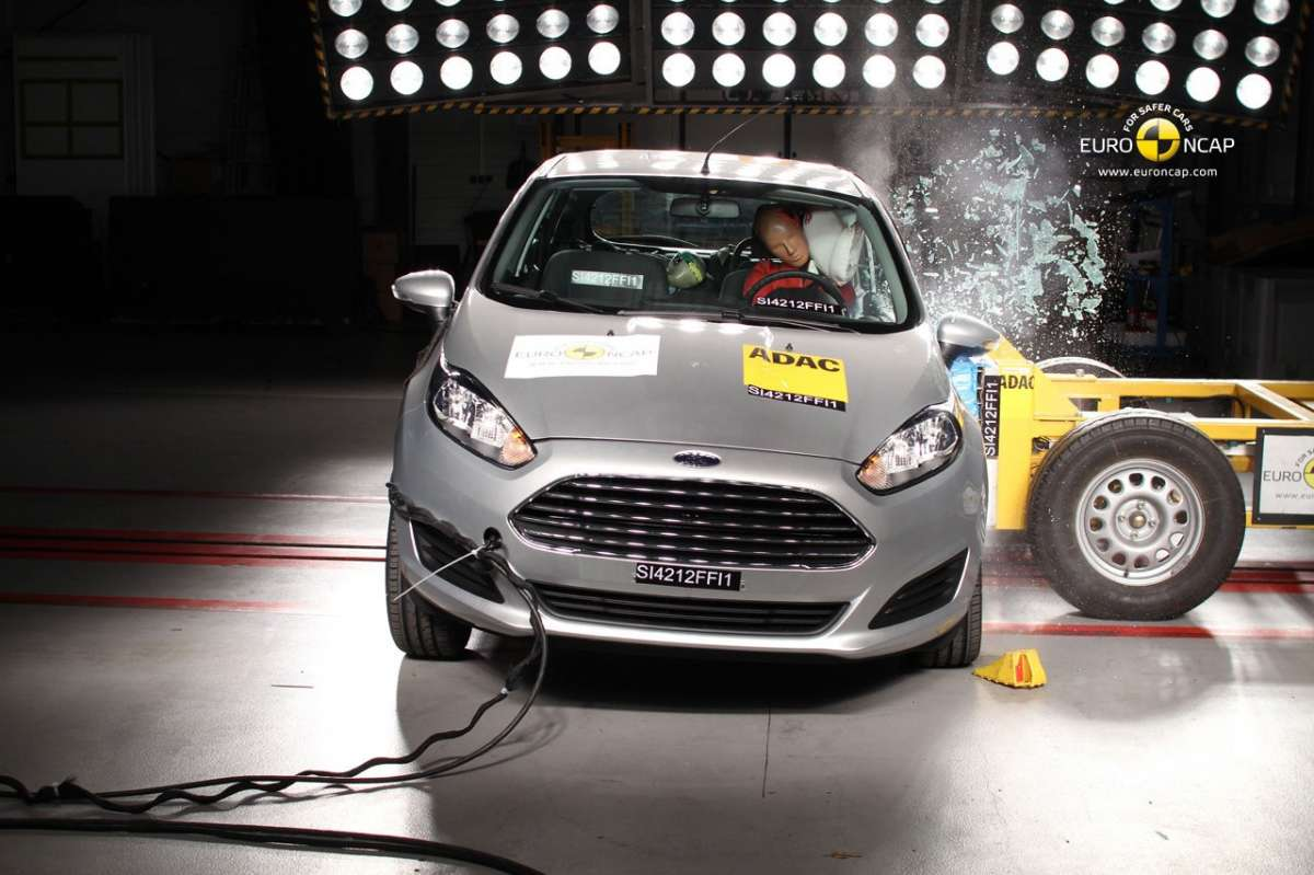 Crash Test Euro NCAP Ford Fiesta anteriore