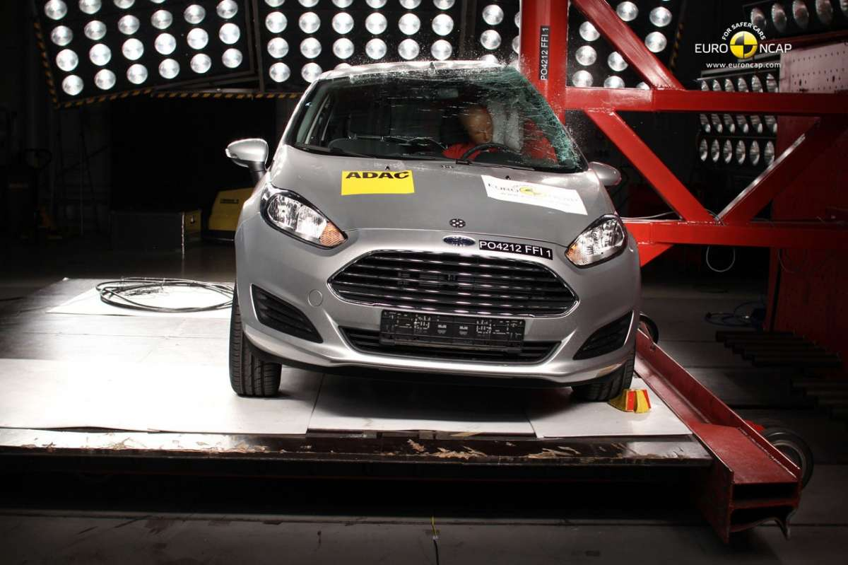 Crash Test Euro NCAP Ford Fiesta laterale