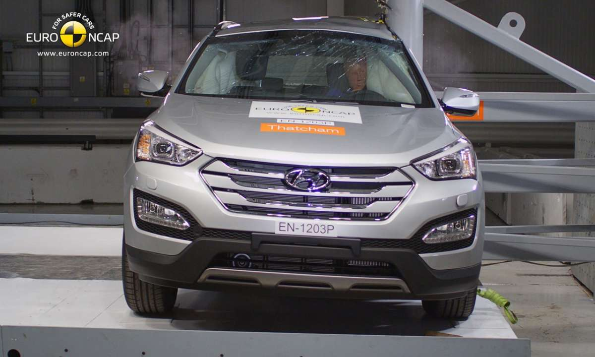 Crash Test Euro NCAP Hyundai Santa Fe laterale