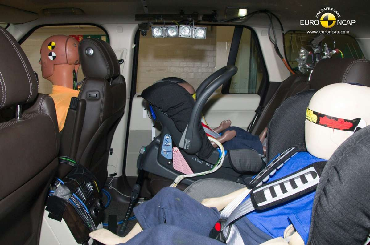 Crash Test Euro NCAP Land Rover Range Rover bambini