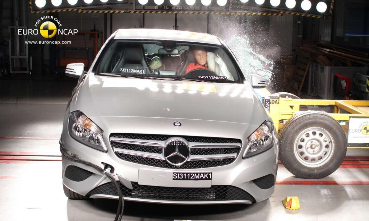 Crash Test Euro NCAP Mercedes Classe A anteriore