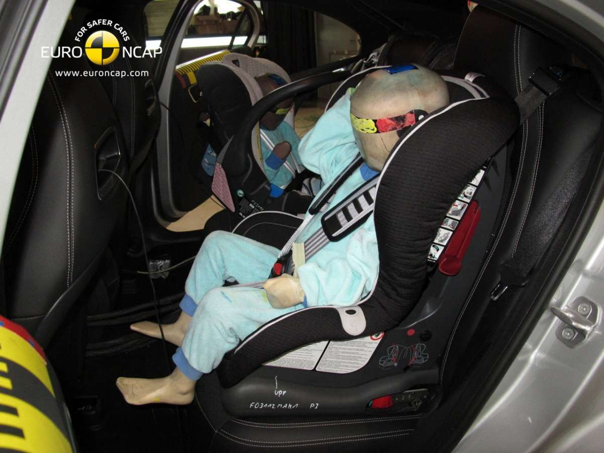 Crash Test Euro NCAP Mercedes Classe A bambini