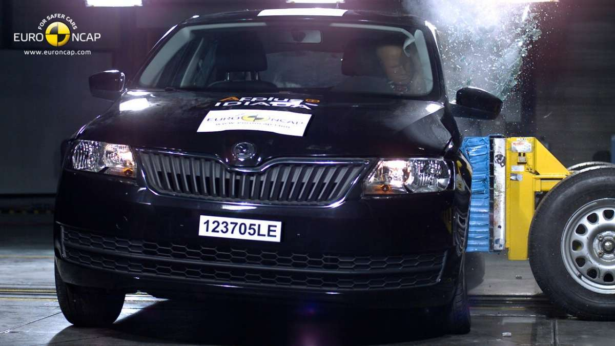 Crash Test Euro NCAP Skoda Rapid anteriore