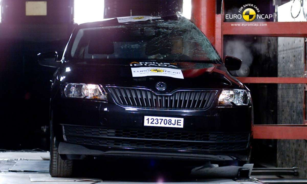 Crash Test Euro NCAP Skoda Rapid laterale
