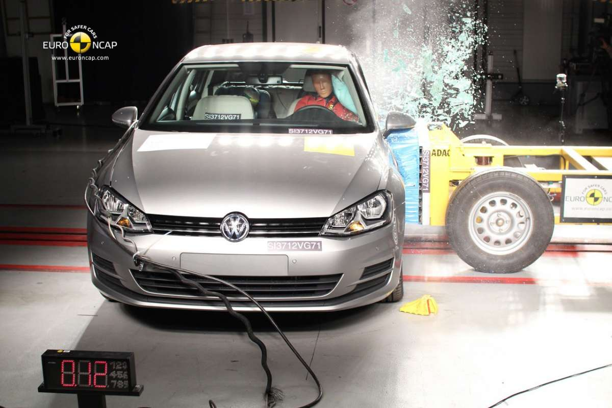 Crash Test Euro NCAP Volkswagen Golf 7 anteriore
