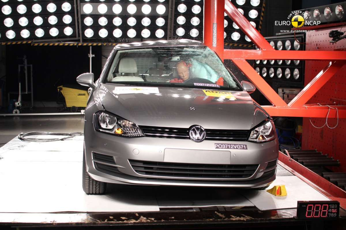 Crash Test Euro NCAP Volkswagen Golf 7 laterale