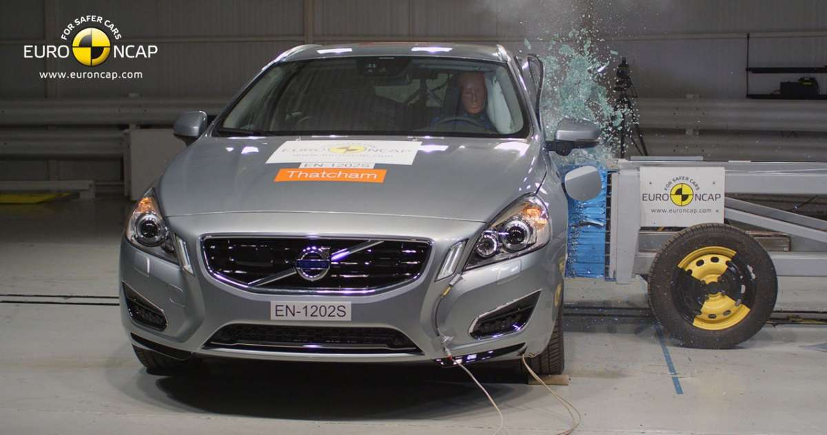 Crash Test Euro NCAP Volvo V60 Plug-In Hybrid anteriore