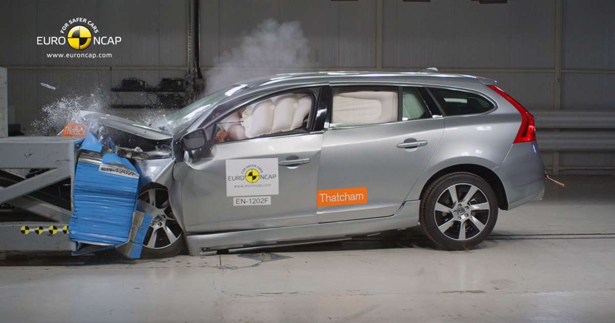 Crash Test Euro NCAP Volvo V60 Plug-In Hybrid