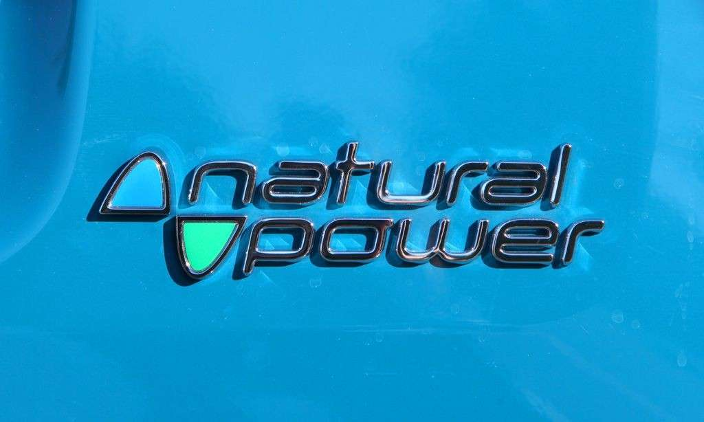 Nuova Fiat Panda 2012 logo Natural Power