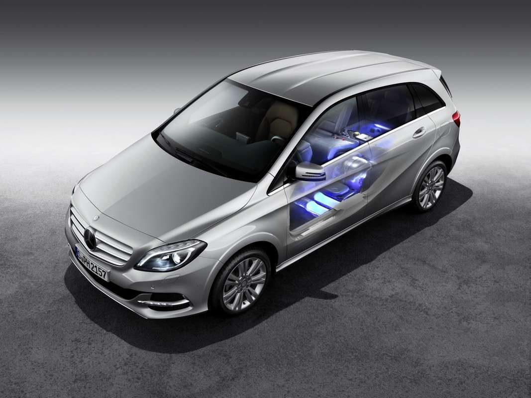 Mercedes Classe B Natural Gas Drive spaccato