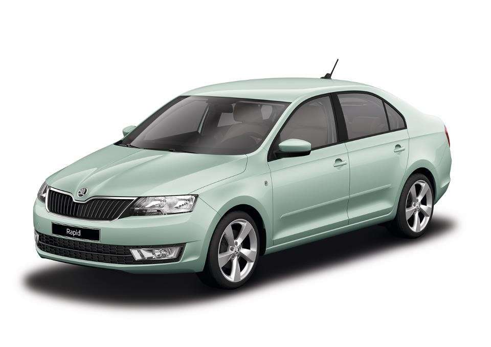 Skoda Rapid Artic Green metallic