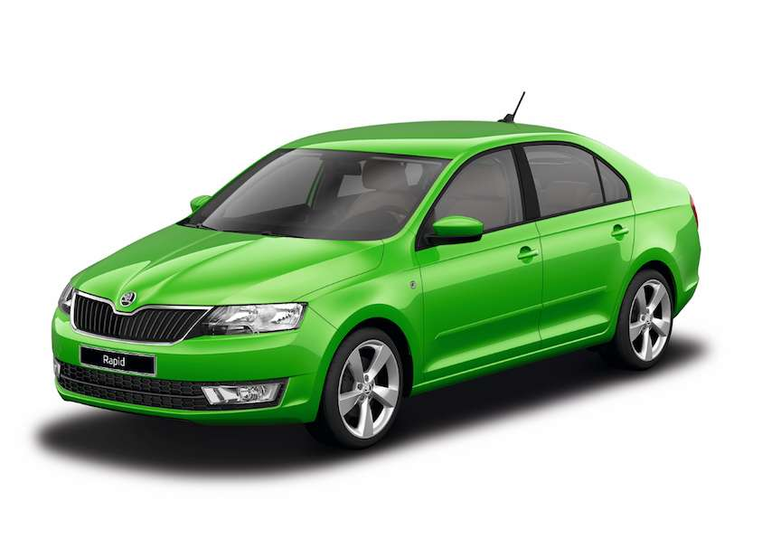 Skoda Rapid Rally Green metallic