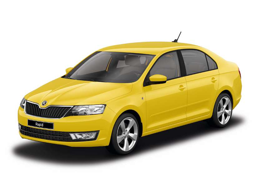 Skoda Rapid Sprint Yellow uni