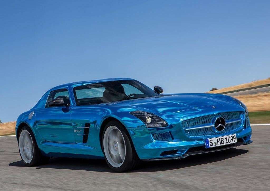 Mercedes SLS AMG Electric Drive frontale