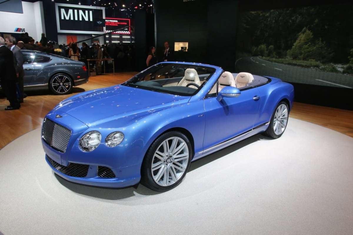 Bentley GT Speed Convertible al Salone di Detroit 2013