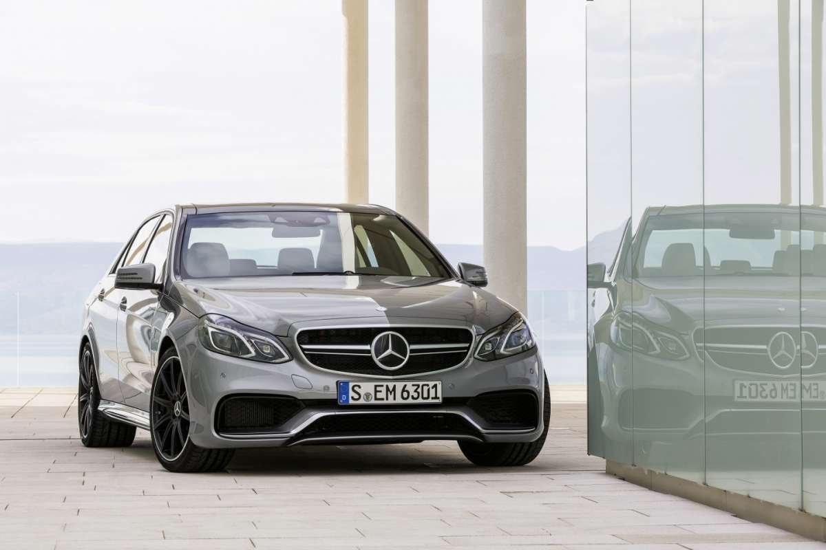 Mercedes E63 AMG frontale