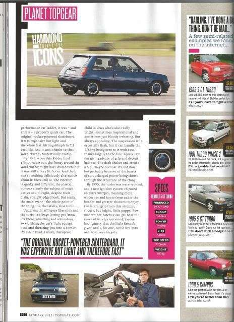 rivista Top Gear R5 GT Turbo