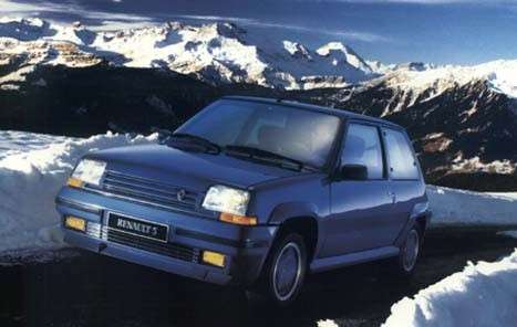 Renault 5 GT Turbo Blue Sport