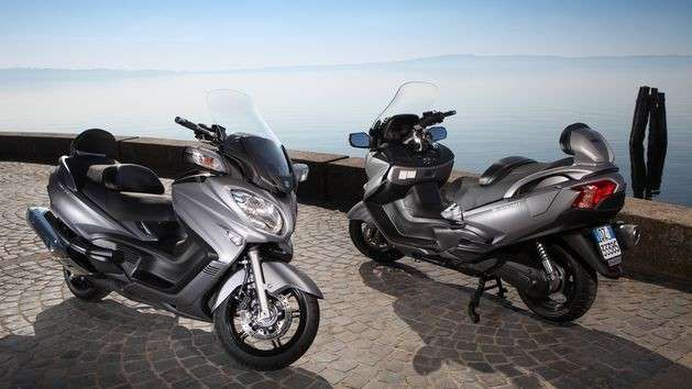 Visuale completa del Suzuki Burgman 650 Executive