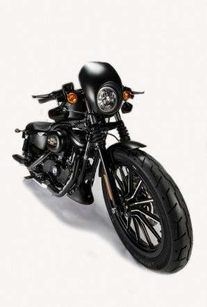 Visuale laterale dell'Harley-Davidson Sportster Iron 883 Special Edition