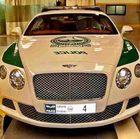 Bentley Continental GT, polizia Dubai