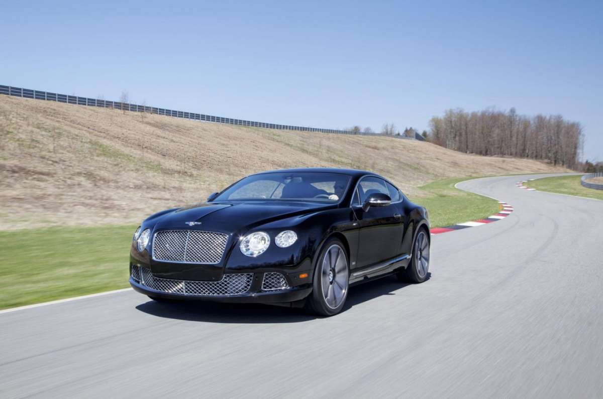 Frontale della Bentley Continental GT Le Mans Edition