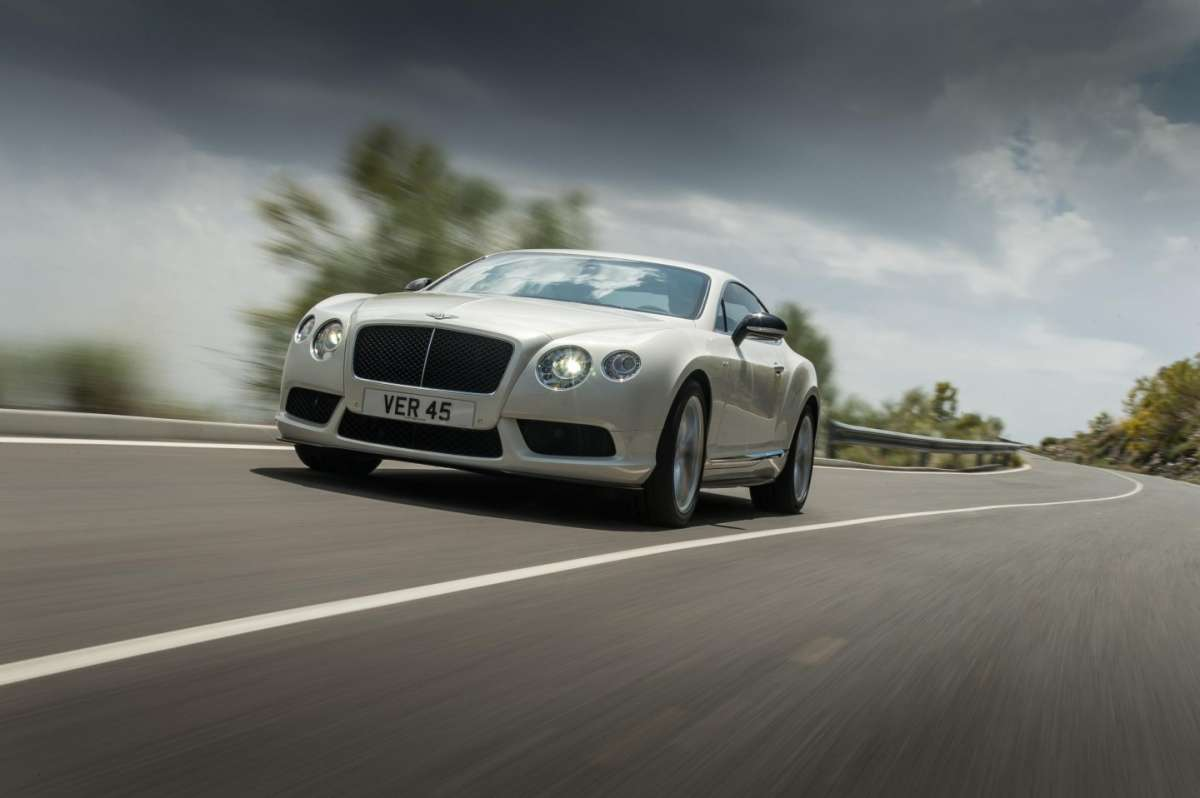 Bentley Continental GT V8 S coupe, frontale
