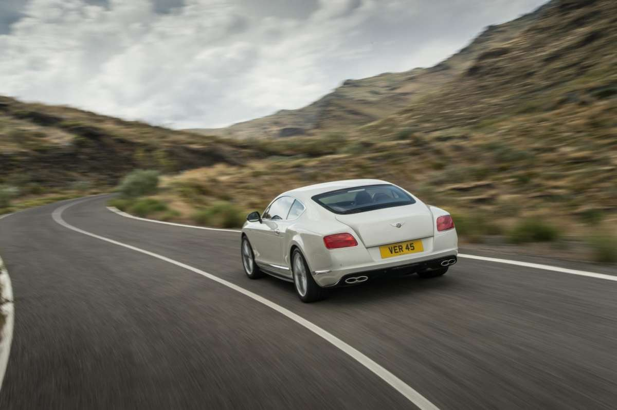 Bentley Continental GT V8 S coupe, posteriore