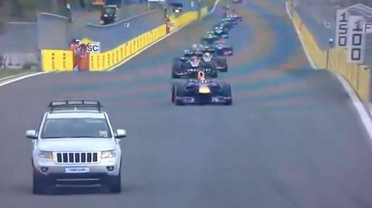 Jeep on the track Korean GP