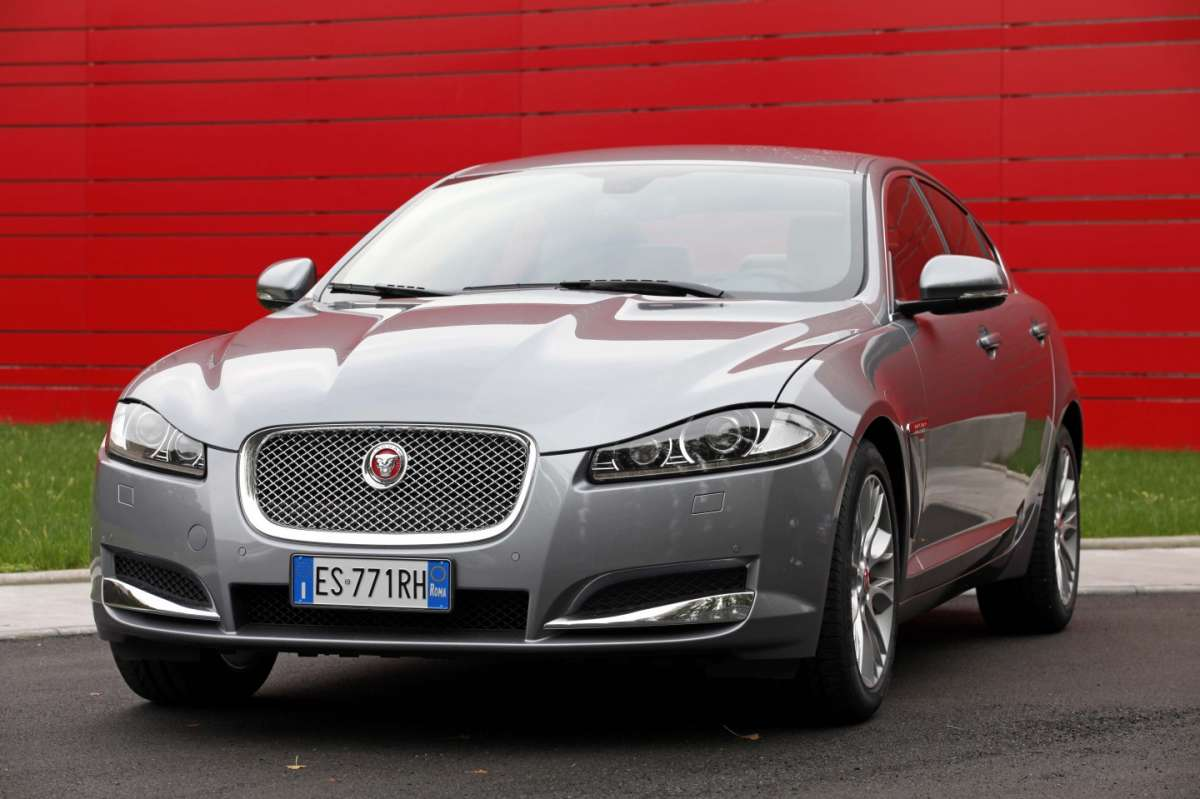 Jaguar XF 2014 on the road