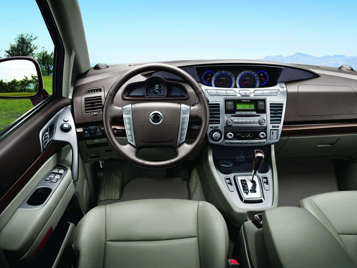 consolle centrale del Ssangyong Rodius 2014