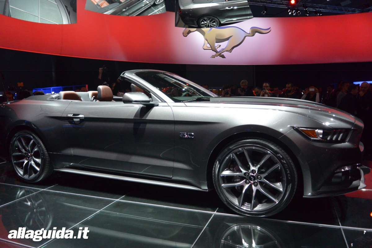 nuova Ford Mustang convertible, lunghezza