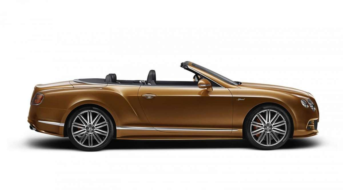 Vista laterale Bentley Continental GT Speed cabrio