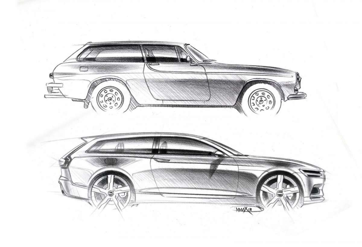 Volvo Concept Estate accanto all'antenata