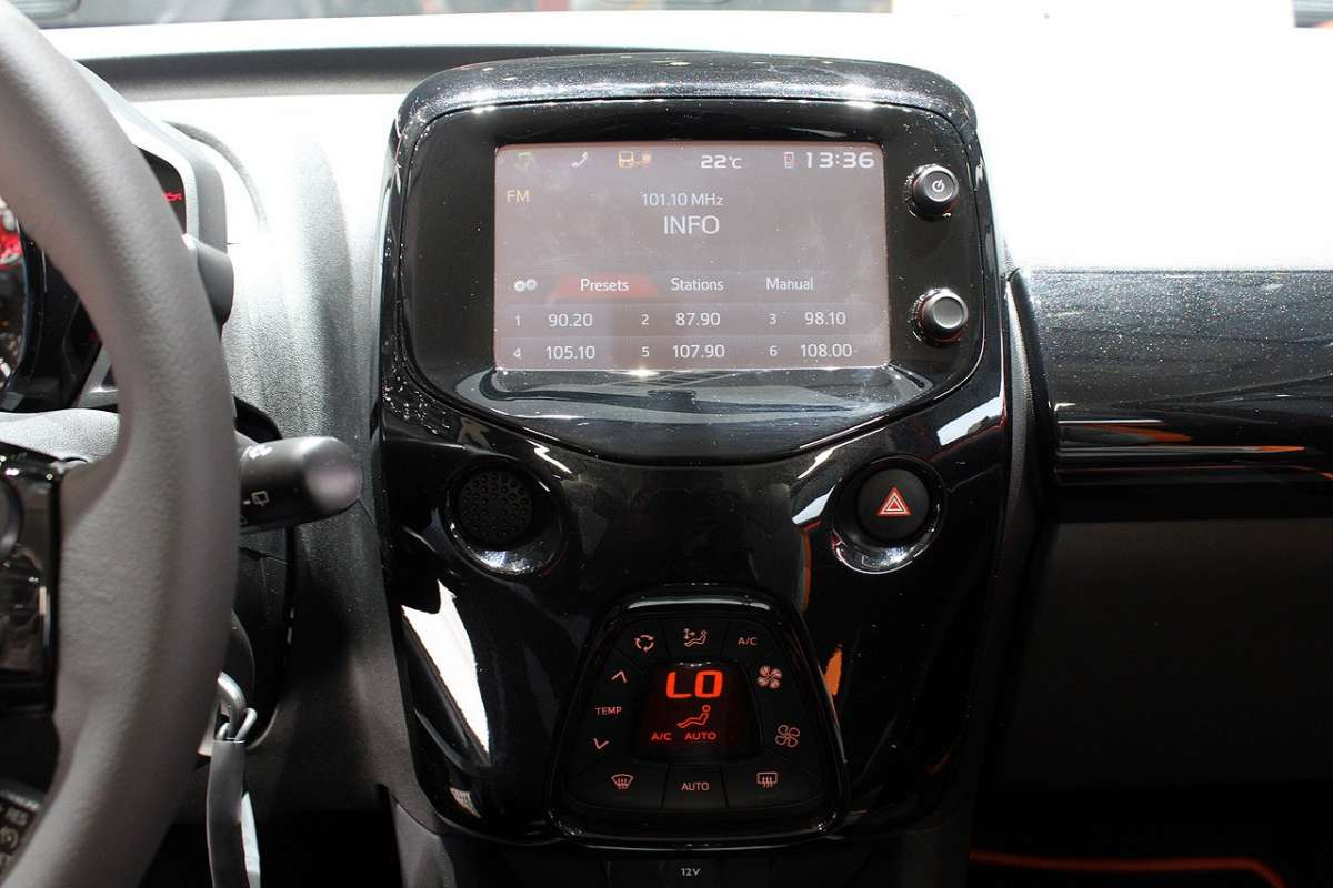 Consolle centrale Nuova Toyota Aygo 2014