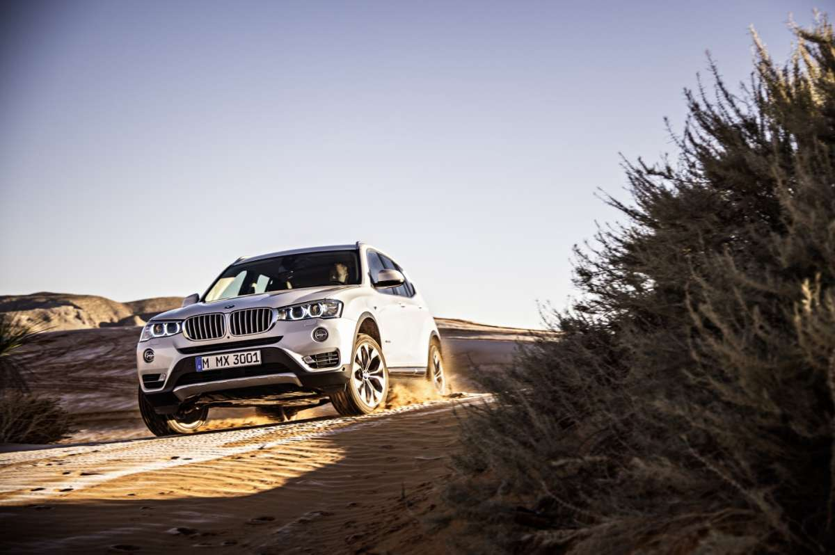 Bmw X3 2014 on the road