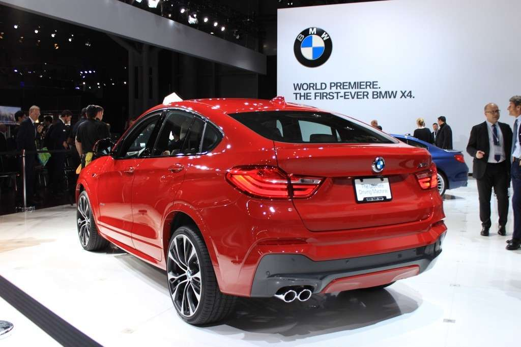 Posteriore BMW X4 al Salone di New York 2014