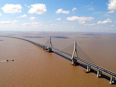 Donghai Bridge dall'alto