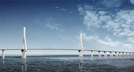 Donghai Bridge di lato