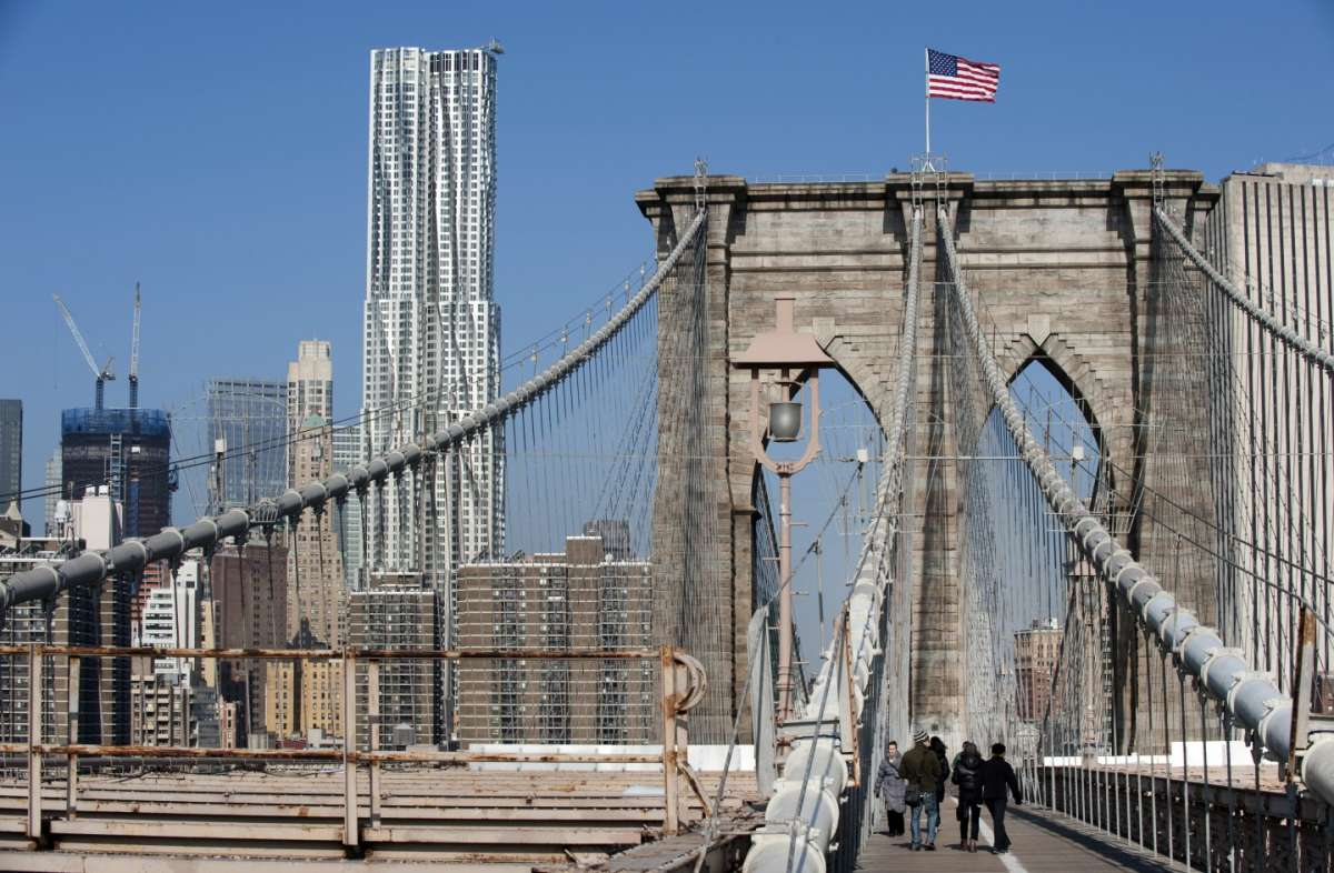 Brooklyn Bridge prospettiva sopra