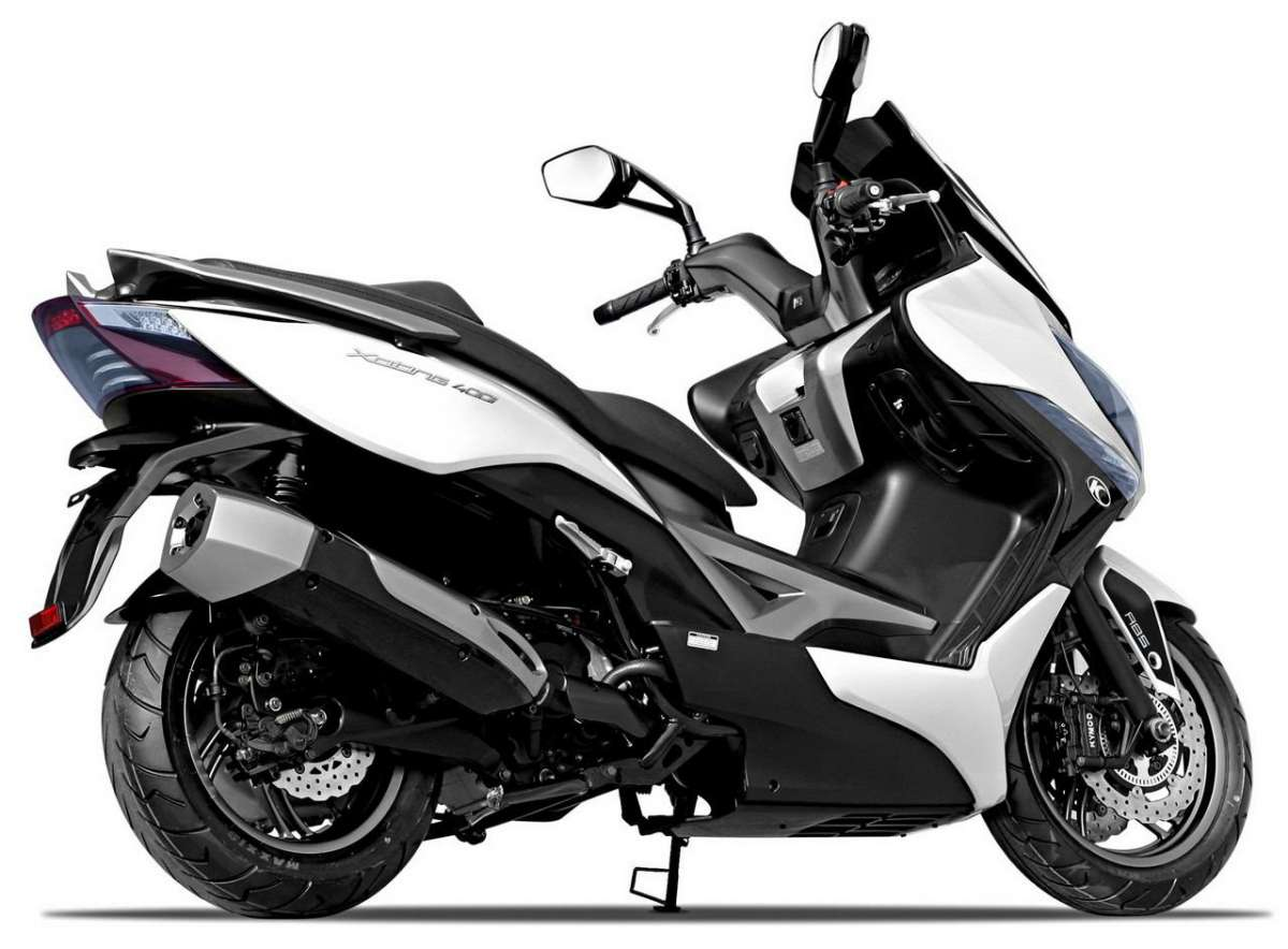 Kymco Xciting laterale posteriore