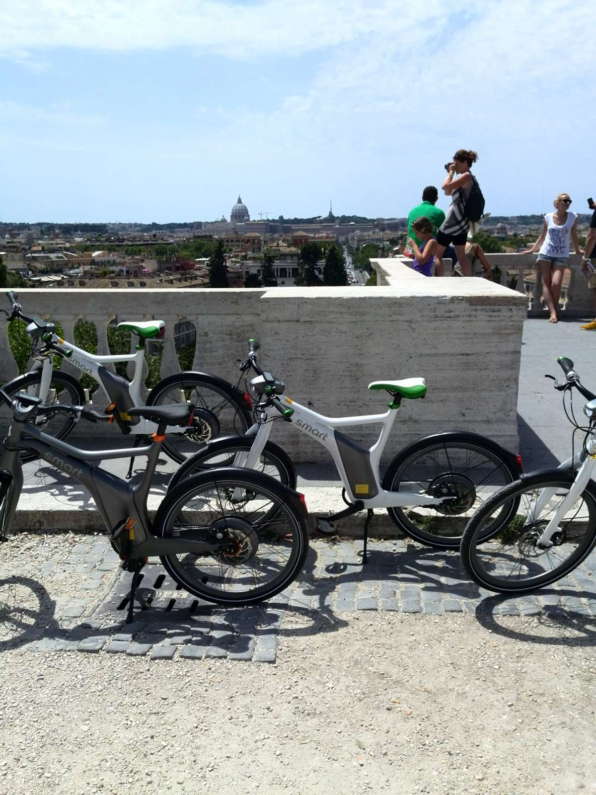 Smart e-bike grigia e bianca